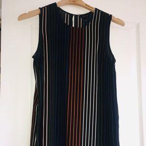 🐫3/$8! Who What Wear Fall Striped Dressy Tank